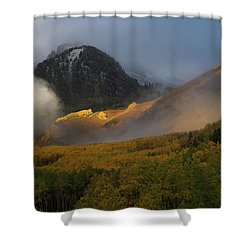 Shower Curtain featuring the photograph Siever's Mountain by Steve Stuller