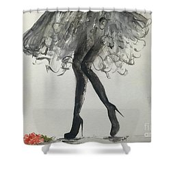 Shower Curtain featuring the painting Signature by Trilby Cole