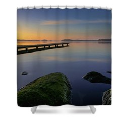 Silence Lake Shower Curtain