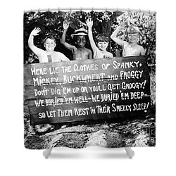 Silent Film: Little Rascals Shower Curtain by Granger