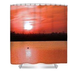 Silky Sunset Shower Curtain