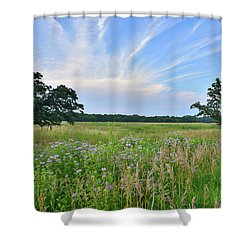 Silver Creek Conservation Area Sunset Shower Curtain