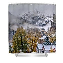 Silverton Colorado Shower Curtain by Charlotte Schafer