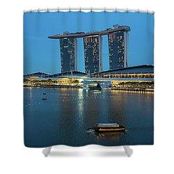 Singapore Harbour Shower Curtain