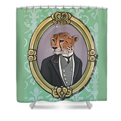 Sir Pettingwise IIi Shower Curtain by Jude Labuszewski