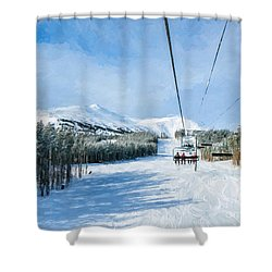 Ski Day Shower Curtain