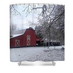 Skip Kelly's Barn Shower Curtain