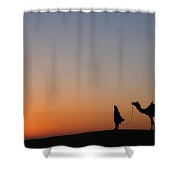 Skn 0866 Just Out Shower Curtain by Sunil Kapadia
