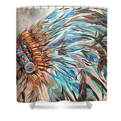 Sky Feather Shower Curtain by Heather Roddy