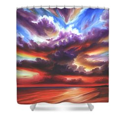 Skyburst Shower Curtain by James Christopher Hill