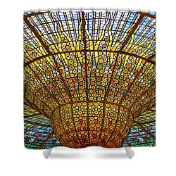 Skylight In Palace Of Catalan Music  Shower Curtain