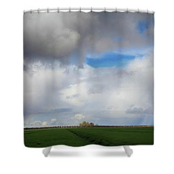 Skyward Shower Curtain by Laurie Search