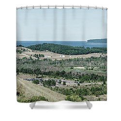 Shower Curtain featuring the photograph Sleeping Bear Dunes National Lakeshore by Alexey Stiop