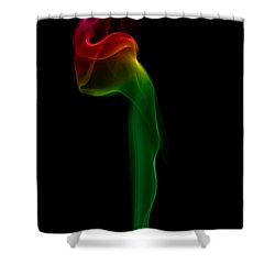 Shower Curtain featuring the photograph smoke XII by Joerg Lingnau