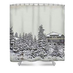 Snow In July Shower Curtain by Teresa Zieba