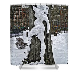 Shower Curtain featuring the photograph Snow Lady by Joan Reese