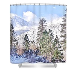 Canyon Snow Shower Curtain