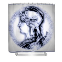 Snowflake 1896 Indochina Shower Curtain by Fred Larucci
