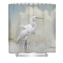 Snowy Egret 2 Shower Curtain