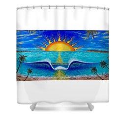 Socal Sunset Shower Curtain