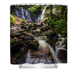 Shower Curtain featuring the photograph Soco Falls by Serge Skiba