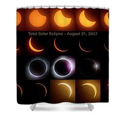 Solar Eclipse - August 21 2017 Shower Curtain by Art Whitton