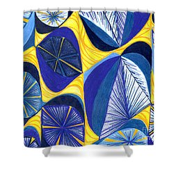 Shower Curtain featuring the drawing Solar Rays by Kim Sy Ok