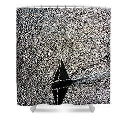 Sailing Into Solitude Shower Curtain