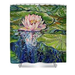 Solitude Waterlily Shower Curtain by Marcia Baldwin