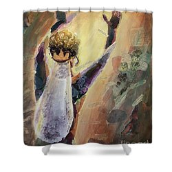 Shower Curtain featuring the mixed media Song Of Songs by Lisa DuBois