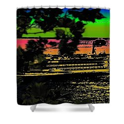 Soundside Treehouse View Shower Curtain by Tim Allen
