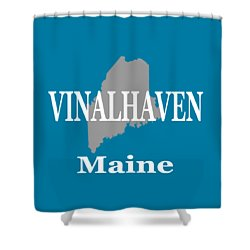Shower Curtain featuring the photograph Southwest Harbor Maine State City And Town Pride  by Keith Webber Jr