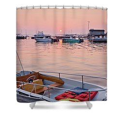 Shower Curtain featuring the photograph Southwest Harbor Sunrise by Susan Cole Kelly