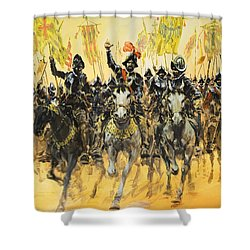 Spanish Conquistadors Shower Curtain