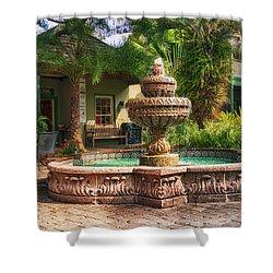 Spanish Fountain Shower Curtain