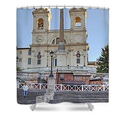 spanish steps in Rome Shower Curtain by Joana Kruse