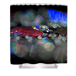Sparks Shower Curtain by Sylvie Leandre