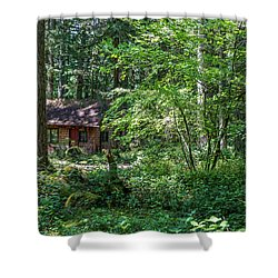 Sparsely Peppering The Landscape Shower Curtain