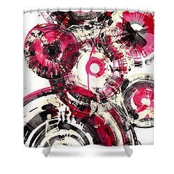 Shower Curtain featuring the painting Sphere Series 1025.050412 by Kris Haas