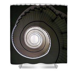 Spiral Staircase In Brown Tones Shower Curtain by Jaroslaw Blaminsky