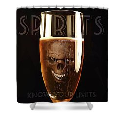 Spirits - Know Your Limits Shower Curtain by ISAW Gallery