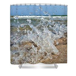 Shower Curtain featuring the photograph Splash by Nikki McInnes