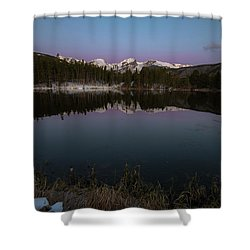 Shower Curtain featuring the photograph Sprague Lake by Gary Lengyel