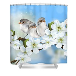 Shower Curtain featuring the painting Spring Fever by Veronica Minozzi
