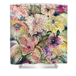 Spring Fireworks Shower Curtain