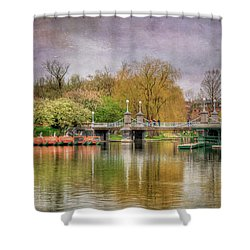 Shower Curtain featuring the photograph Spring In The Boston Public Garden by Joann Vitali