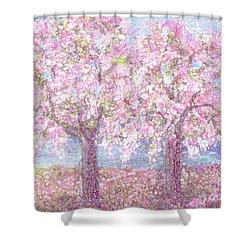 Spring Sprung Along The Charles Shower Curtain