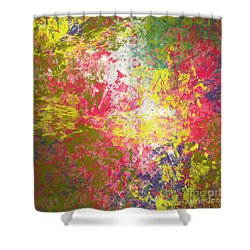 Shower Curtain featuring the digital art Spring Thoughts by Trilby Cole