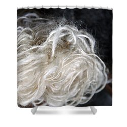 Shower Curtain featuring the photograph Spun Wool by Joanne Coyle