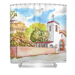 St. Catherine Of Alexandria Catholic Church, Avalon, Santa Catalina Island, Ca Shower Curtain